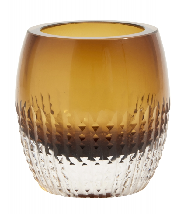 Bilde av Glass votive, amber, for t-light