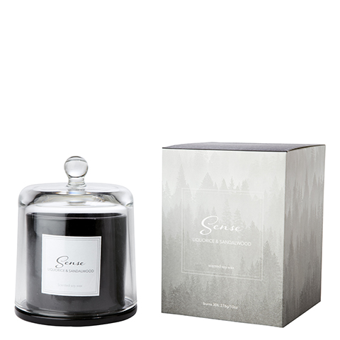 Bilde av SENSE Scented candle with dome Licquorice & sandal wood 11xH14 c