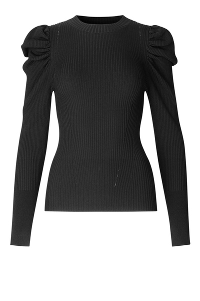Bilde av Canil Knit T- Neck Black