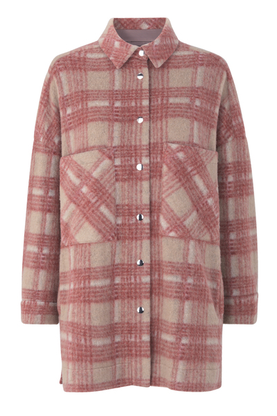 Bilde av Aron Shirt Jacket Mineral Red