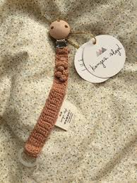 Bilde av PACIFIER STRAP KNIT COTTON Sahara