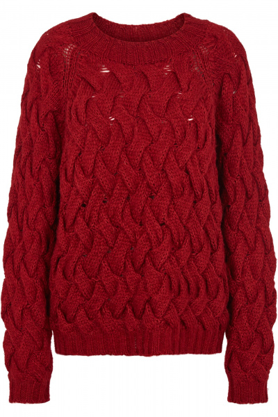 Bilde av Vitas Knit O-Neck Red Dahlia