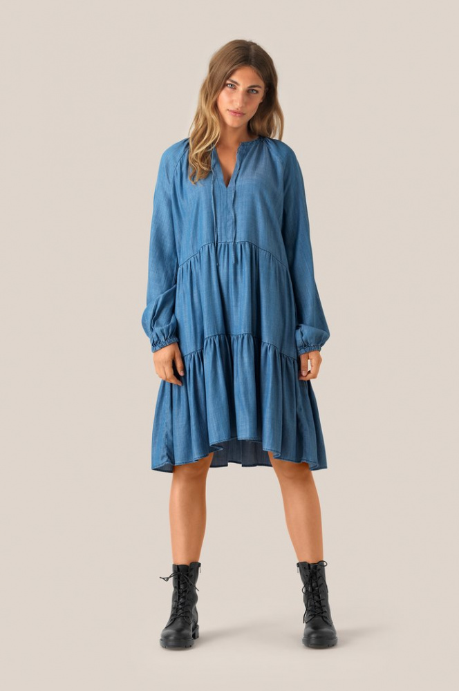 Bilde av Lilla LS Dress Blue Denim